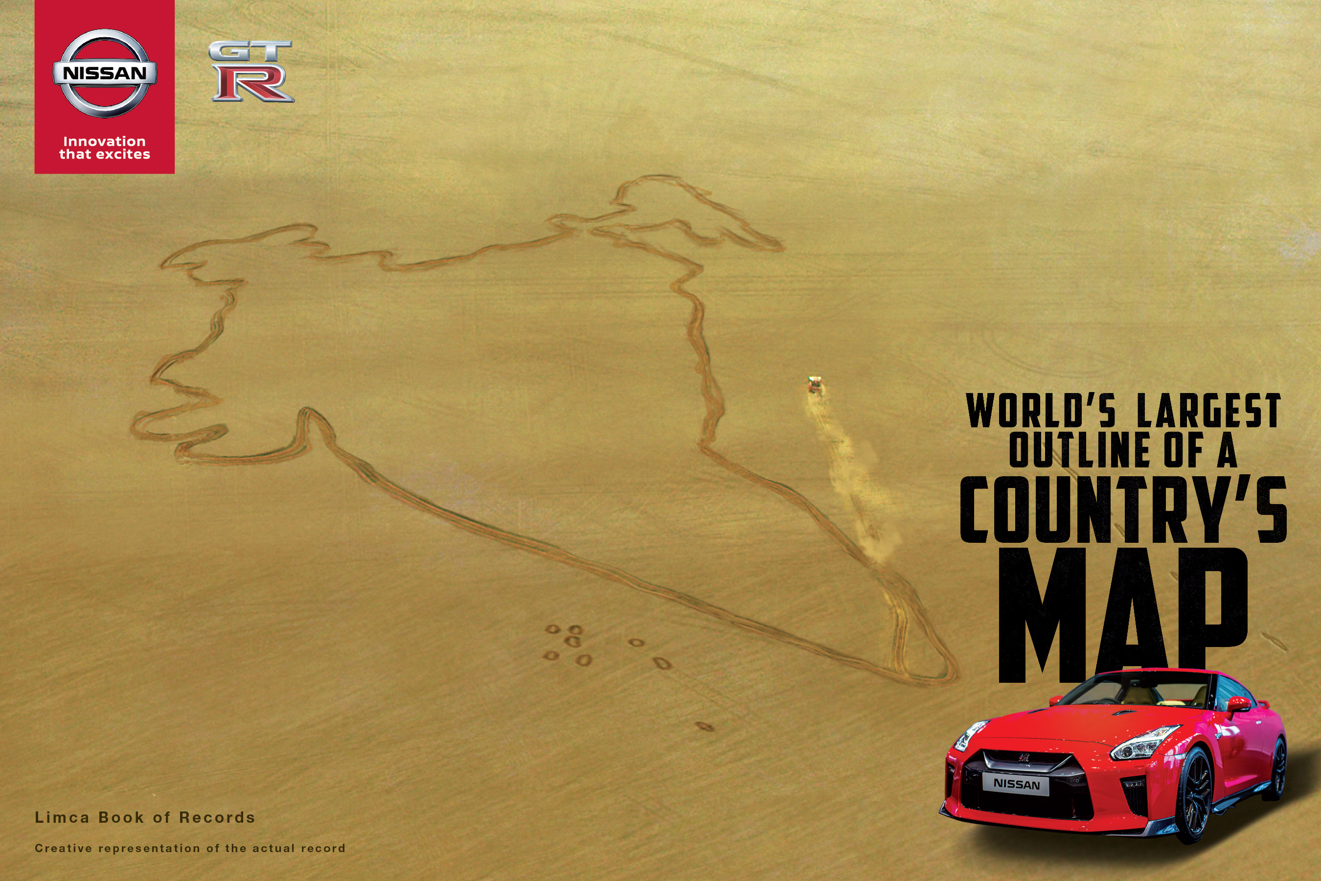 Nissan GT-R offers a #LegendarySalute to India, creating the world\'s ...