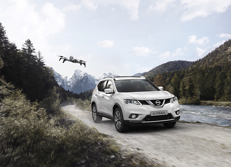New Nissan X Trail X Scape With Parrot Bebop 2 Drone The Perfect