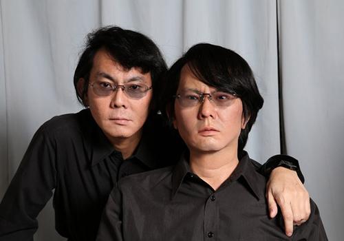Professor Hiroshi Ishiguro and android