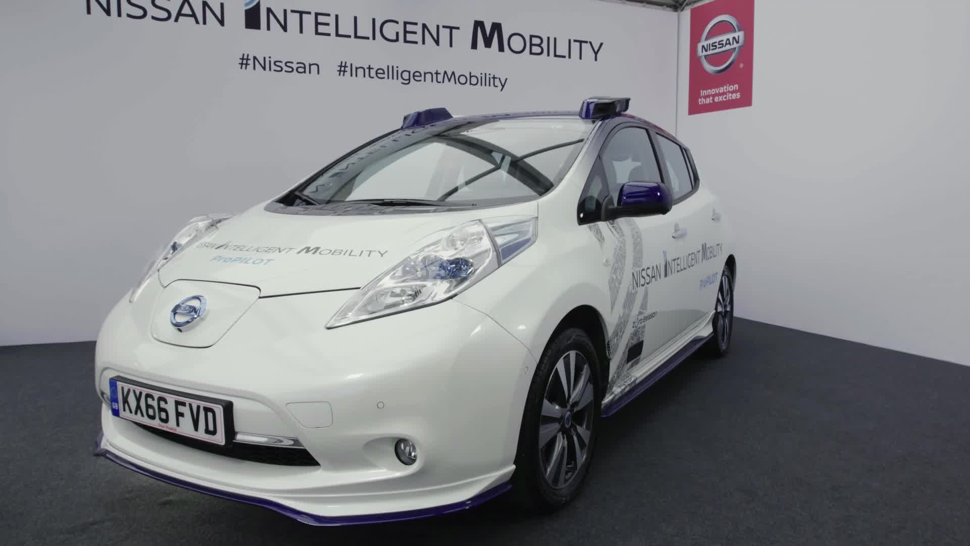 B-Roll: Nissan conducts on-road autonomous vehicle testing in Europe
